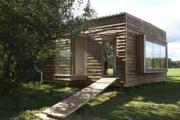 Houten tiny house in Duitsland
