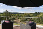 Uitzicht vanaf het terras van het vakantiehuis in Duitsland