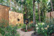 Tiny house in een bosrijke omgeving