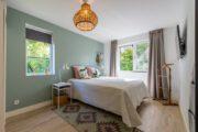 Slaapkamer in het vakantiehuis in Zeeland