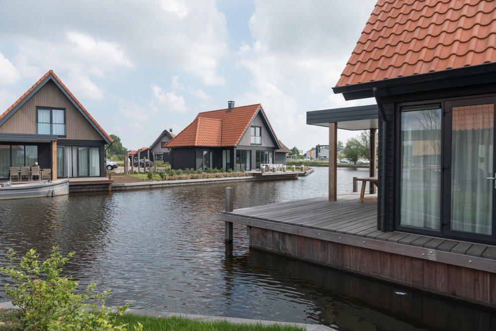 Vakantiehuizen aan het water met eigen aanlegplek