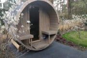 Sauna in de tuin bij het vakantiehuis