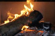 Brandende houtkachel