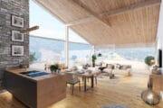 Luxe en ruime woonkamer in het vakantiehuis in Oostenrijk