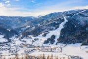 Besneeuwde bergen in Oostenrijk