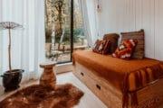 Bedbank in het tiny house in België