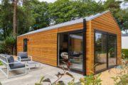 Wellness lodge met sauna op de Veluwe