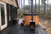 Boshuisje met hot tub in Overijssel