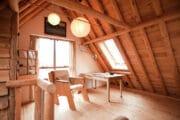 De bovenverdieping van de cottage in Bergen
