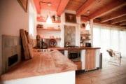 De keuken van de cottage in Bergen
