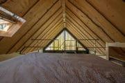 Het vakantiehuisje in Biggekerke heeft een slaapvide met tweepersoonsbed