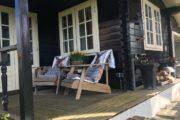 Verblijf met veranda bij Blokhut in Beckum