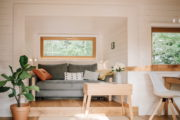Overnachten in natuurhuisje in Drantum met cozy woonkamer