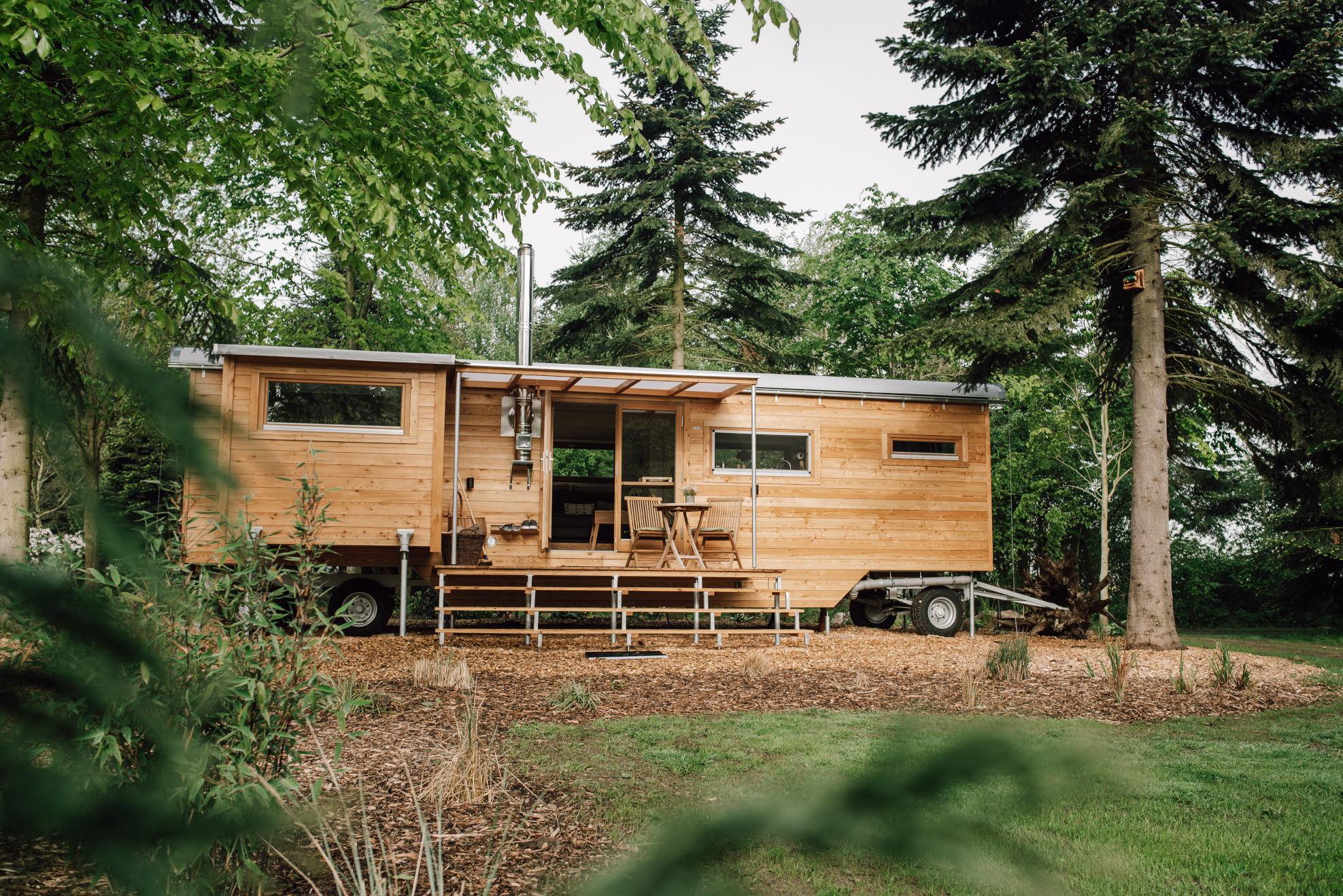 Vakantie in houten natuurhuisje in Drantum