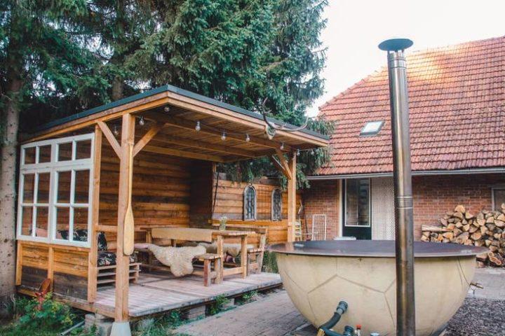Verblijf met hottub bij Tiny house in Maasbommel